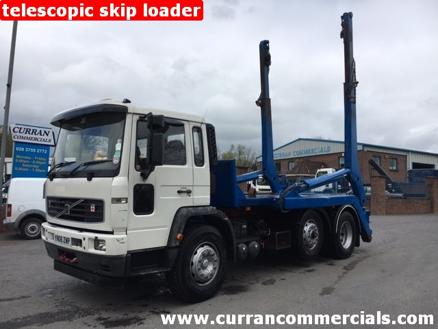2006 Volvo FL6E 6x2 mid lift axle 23T Telescopic Skip Loader