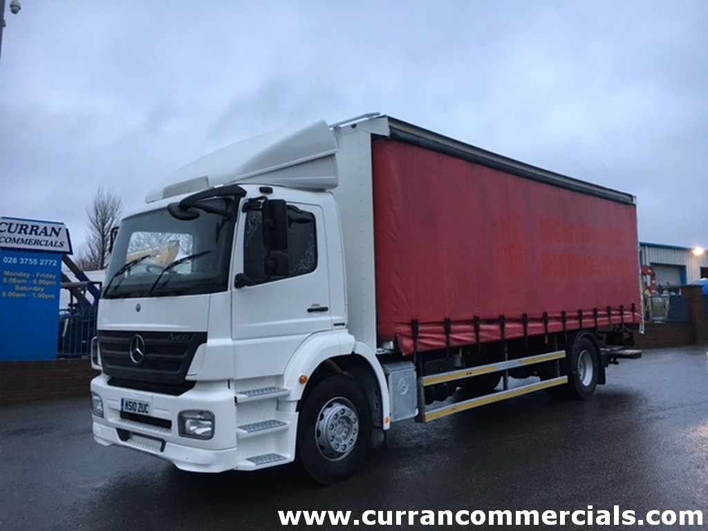2010 Mercedes Axor 1824 4x2 18 ton curtain side with tail lift euro 5 LEZ