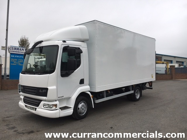 2007 daf lf 45 160 7.5 ton box with cantiliver tail lift for sale