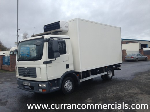 2007 man tgl 7.150 7.5 ton 15ft fridge for sale