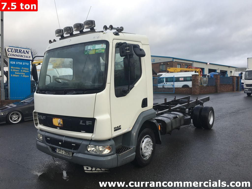 2004 Daf LF 45 170 10 ton 17 ft chassis cab for sale