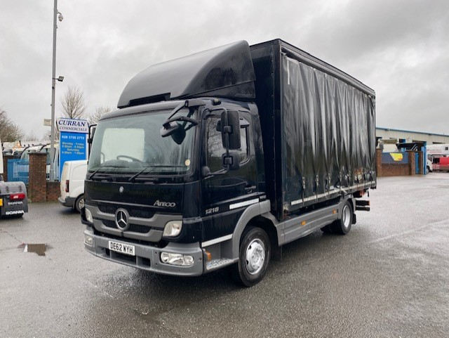 2013 mercedes 1218 12 ton on air 17ft curtainsider with tail lift