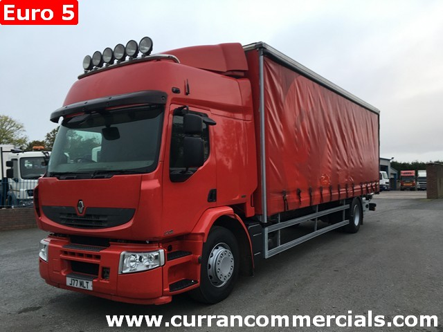 2009 renault premium 320 DXI 18 ton 28ft curtain side with tail lift Euro 5
