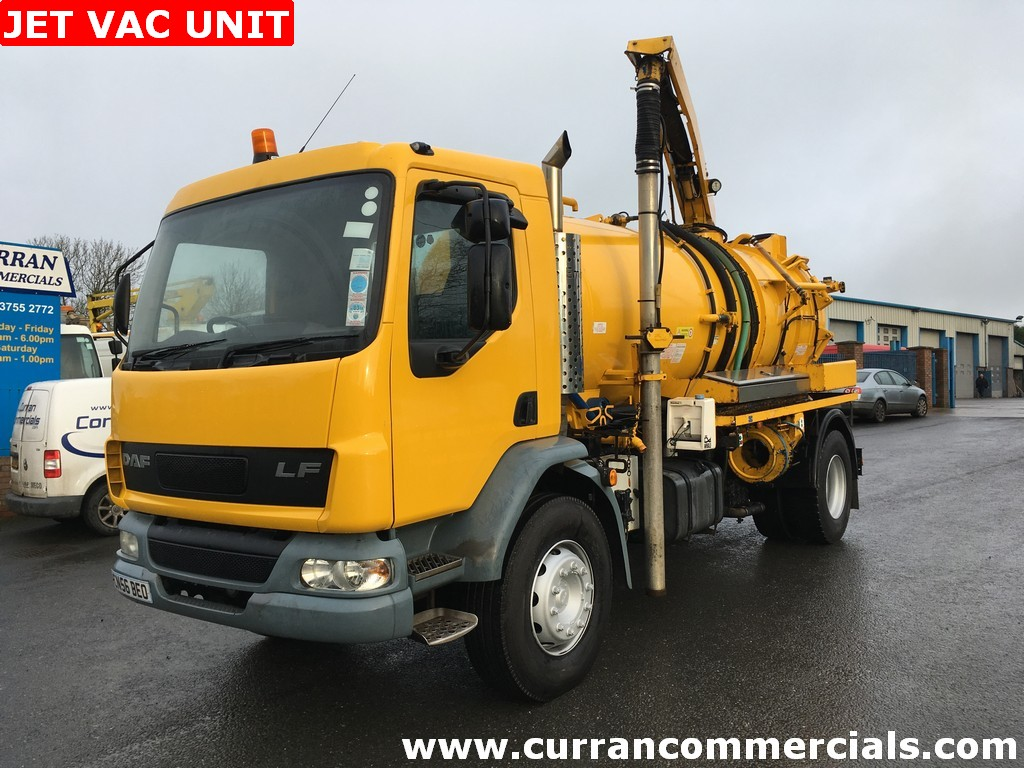 2006 56 Daf LF 55 220 4X2 18 TON gully suction combi unit vacuum and drain jetter