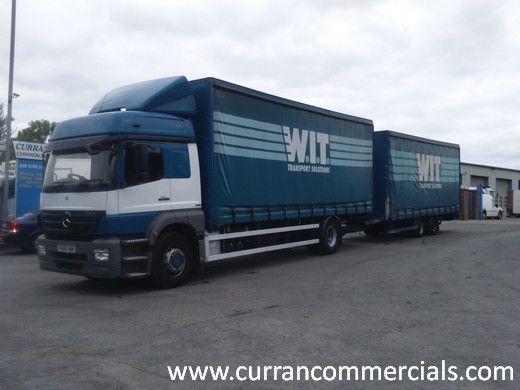 2010 mercedes axor 1829 curtainside drag out fit for sale