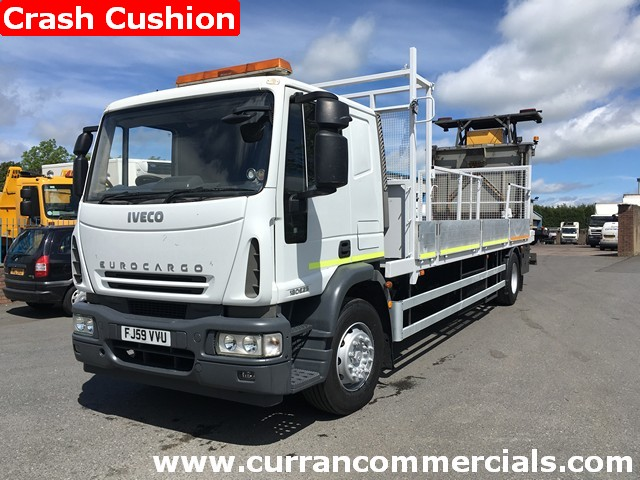 2009 Iveco 180E25 18 ton traffic management vehicle with crash cushion