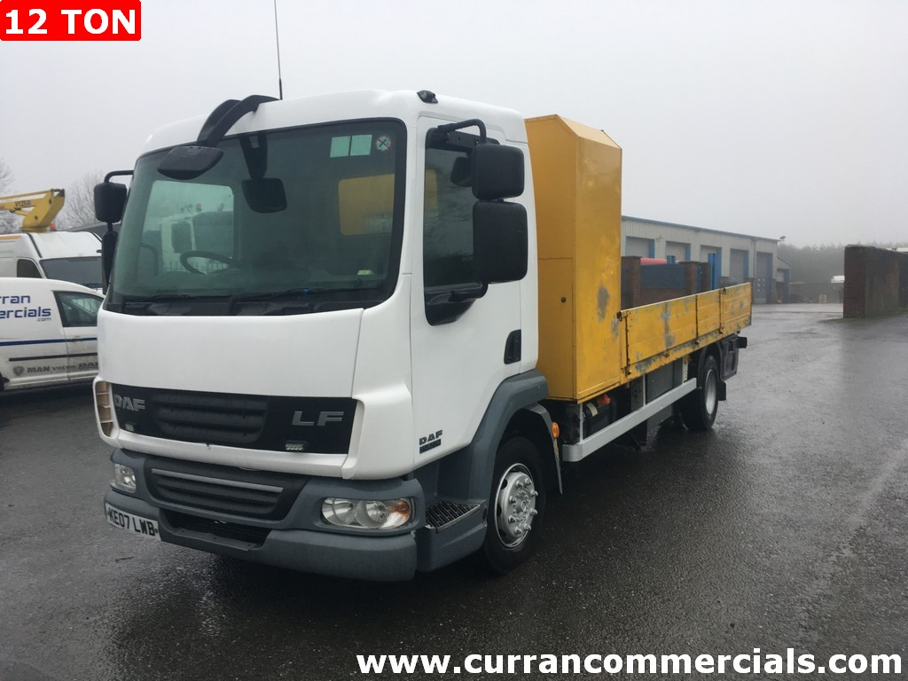 2007 daf lf 45 180 12 ton dropside flat for sale
