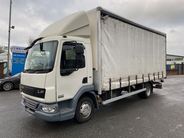 2012 daf lf 45 160 7.5 ton manual 20ft curtainsider with tail lift