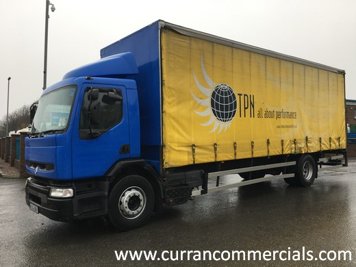 2006 Renault premium 220 DCI 18 ton curtain side with tail lift