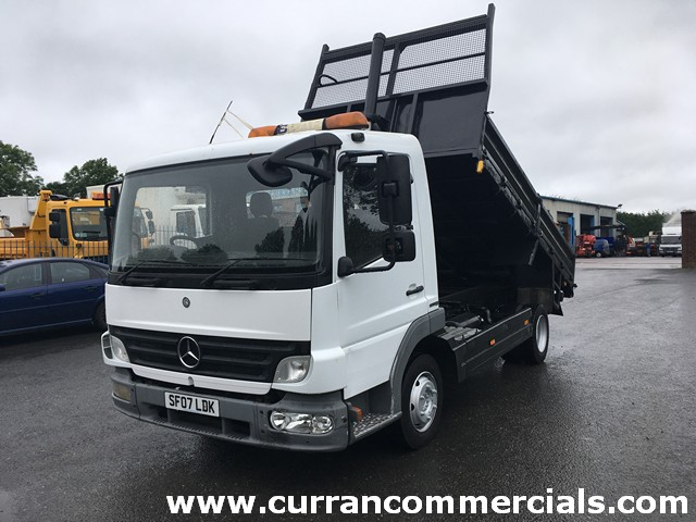 2007 Mercedes Atego 816 7.5 ton Dropside Tipper + adjustable Tow Hitch