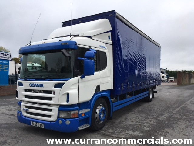 2007 57 Scania P230 4X2 18 ton 28ft curtainside + tail lift