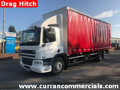 2011 daf cf 75 310 18 ton curtainsider with drag hitch for sale