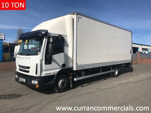 2012 iveco 100e18 10 ton 22ft box with tail lift for sale